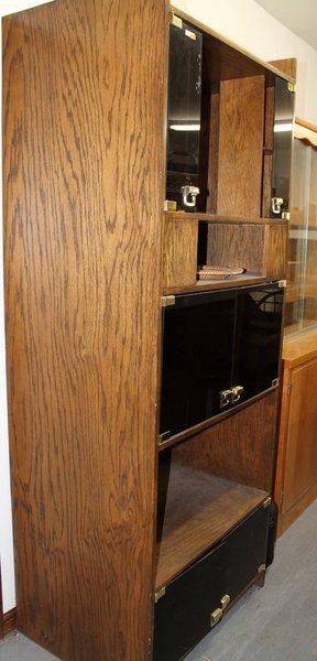 6 Door 5 Level Tall Display Cabinet/Shelves