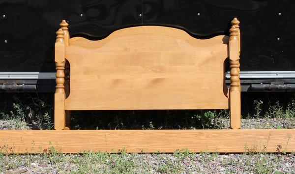Twin Size Wood Head & Footboard w/ Rails