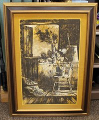Ron Roesch Wood Framed Country Artwork