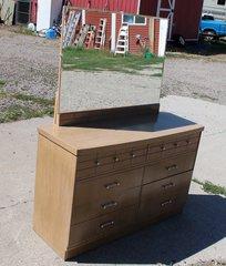 1960's 6 Drawer Dresser w/ Mirror