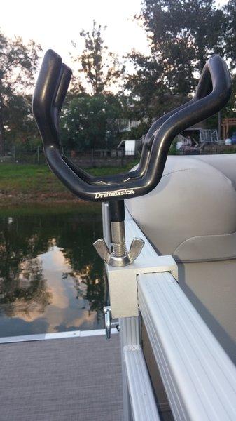 3 8 rod holder clip pontoon boat rod holder fender flag for Fishing rod holders for pontoon boats