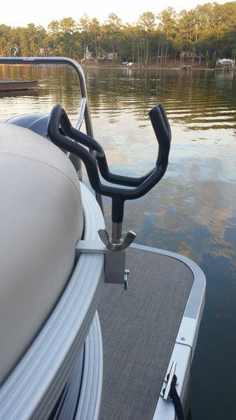 3 8 rod holder clip 2 pack pontoon boat rod holder for Fishing rod holders for pontoon boats
