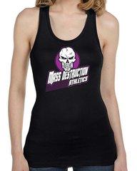 MDA Ladies Purple White Skull Racerback Tank (Black)