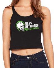 MDA Ladies Logo Skull Crop Tank (Back)