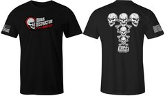 MDA Vintage Skull Unisex T-Shirt (Black)