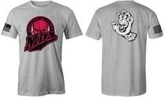 MDA Vintage Pink Skull Unisex T-Shirt (Heather Grey)