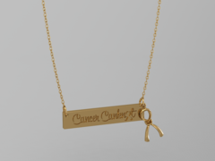 Cancer Canknot Necklace - Bronze