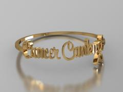 Cancer Canknot Font Bracelet - Bronze