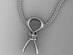 Sterling Silver Pendent with Diamond