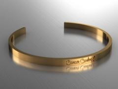Cancer Canknot Cuff Bracelet - Bronze