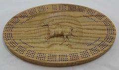 Horse Cribbage Board 4 Track