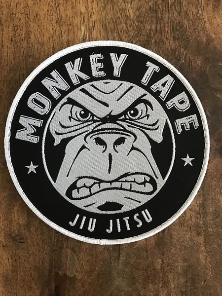 """5"""" Woven Patch, White or black border"""
