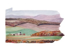 Pennsylvania State Art Print