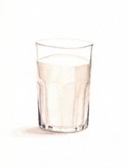 Glass of Milk PRINT, 5x7