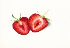 Sliced Strawberries PRINT,5x7