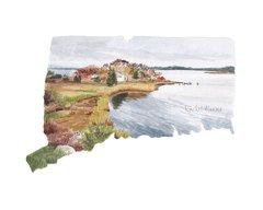 Connecticut state art print