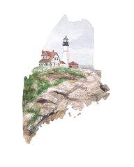 Maine State Art Print