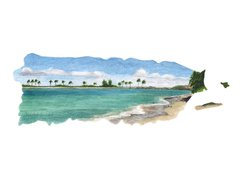Puerto Rico watercolor art print