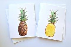 Pineapple Notecard Set