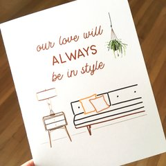our love will always be in style