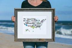 watercolor us map