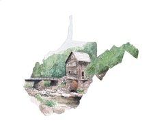 West Virginia State Art Print
