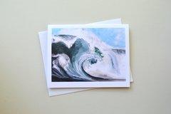 Watercolor seascape notecard