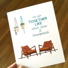 we go together like clean lines & houseplants