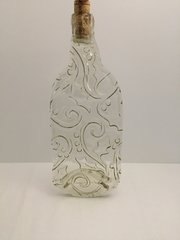 Holiday, Recycled Wine Bottle, Serving Tray, Clear