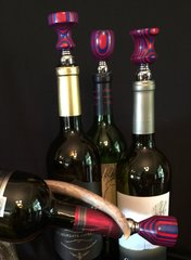 Red and Blue Wine Stopper