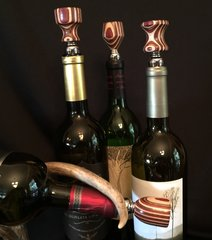 Maroon, Brown and White Wine Stopper