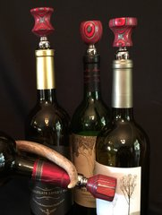 Red and Black Wine Stopper