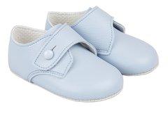 Baby blue soft soled shoe