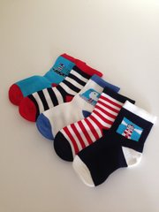 Nautical socks for babies and youngsters