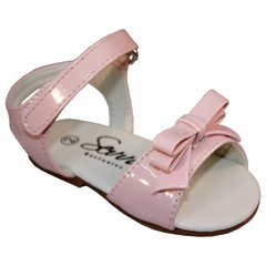 Sevva Alani Baby Girl Sandal with Bow to The Front and Velcro Strap Fastening.