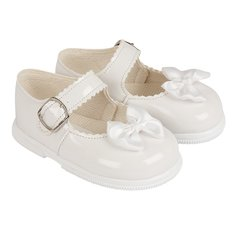 Bay Pods hardsole patent baby girl's first walking shoe