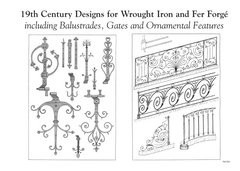 19TH CENTURY DESIGNS FOR WROUGHT IRON AND FER FORGE