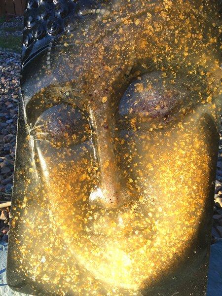 Golden Buddha 24Kt Gold Wall Mount