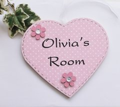Heart Bedroom Door Plaque