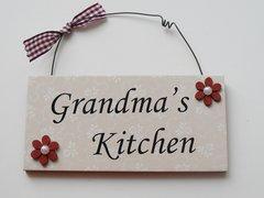 Grandma's Kitchen Door Plaque