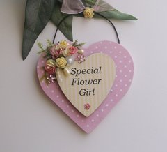 Special flower girl thank you wooden plaque