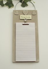 Things to do wooden note pad holder with note pad