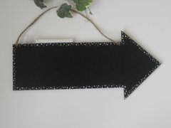 Decorated Edge Arrow Chalkboard