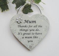 Special Mum Vintage Gift Plaque