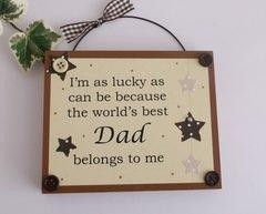 World's Best Dad Wooden plaque