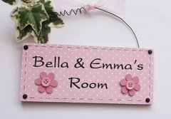 Daisy Bedroom Door Plaque