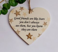 Good friends are like stars gift heart