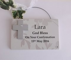 Confirmation wooden plaque