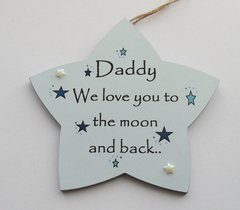 Large Dad Fathersday /Birthday Wooden Star