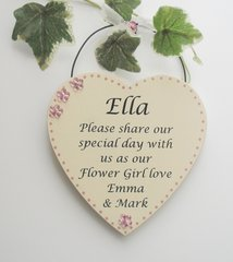 Will you be my Flower Girl Personalised Wooden Plaque